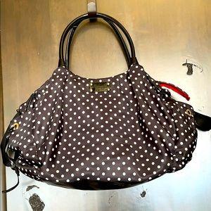 Kate Spade Black White Red Diaper Bag &.Change Pad